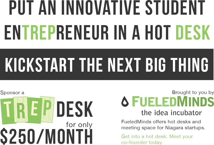 Put an innovative student entrepreneur in a hot desk